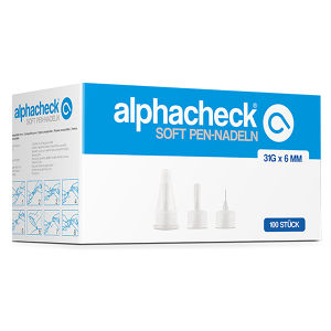alphacheck soft Pen-Nadeln 6 mm x 31G